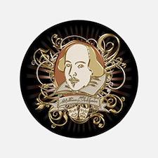 "Shakespeare Crest 3.5"" Button"