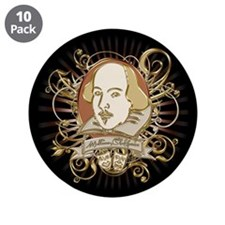 "Shakespeare Crest 3.5"" Button (10 pack)"