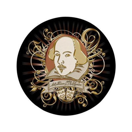 """Shakespeare Crest 3.5"""" Button (100 pack)"""