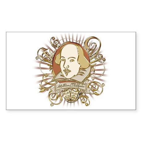 Shakespeare Crest Sticker (Rectangle)