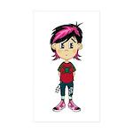 Little Emo Punk Girl Sticker (Rectangle 50 pk)