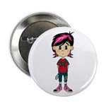 "Cute Emo Punk Girl 2.25"" Button (100 pack)"