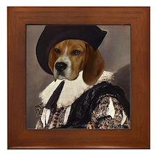 Beagle CAVALIER Framed Tile