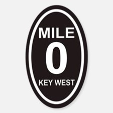 Mile Zero Key West Euro Oval Decal