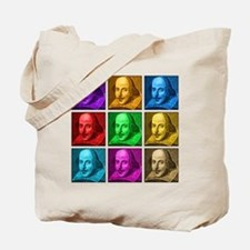 Shakespeare Pop Art Tote Bag