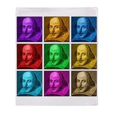Shakespeare Pop Art Throw Blanket