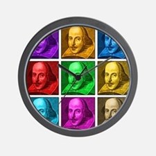Shakespeare Pop Art Wall Clock