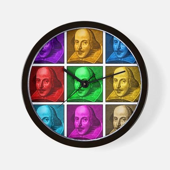 Shakespeare Pop Art Wall Clock