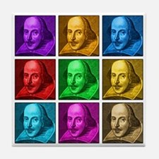 Shakespeare Pop Art Tile Coaster