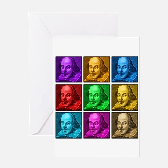 Shakespeare Pop Art Greeting Card