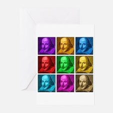 Shakespeare Pop Art Greeting Cards (Pk of 20)