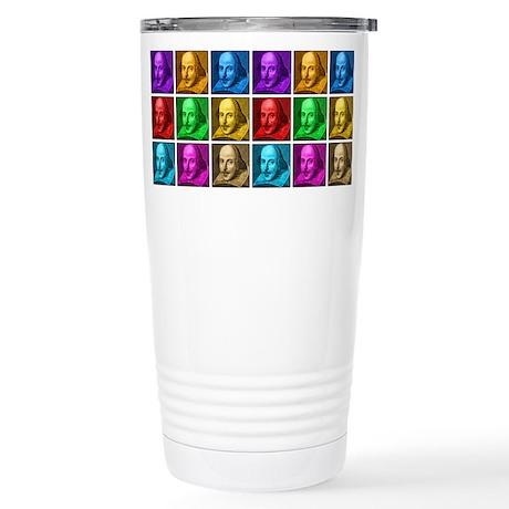 Shakespeare Pop Art Stainless Steel Travel Mug