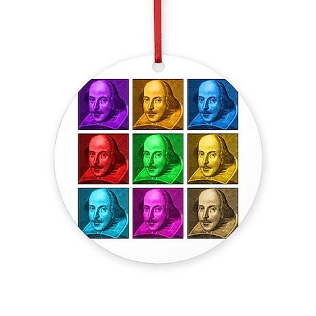 Shakespeare Pop Art Ornament (Round)