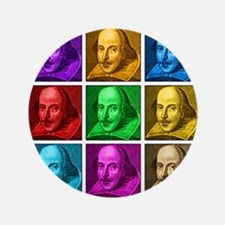 "Shakespeare Pop Art 3.5"" Button"