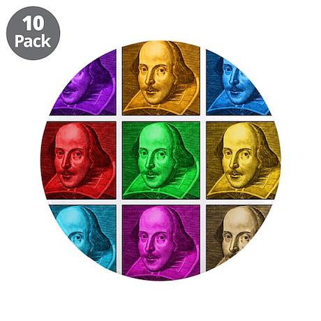 """Shakespeare Pop Art 3.5"""" Button (10 pack)"""