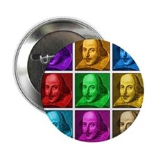 "Shakespeare Pop Art 2.25"" Button"