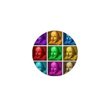 Shakespeare Pop Art Mini Button (100 pack)