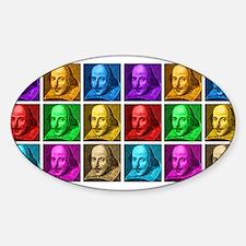 Shakespeare Pop Art Sticker (Oval)