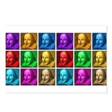 Shakespeare Pop Art Postcards (Package of 8)