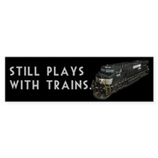 Still Plays With Trains Car Sticker