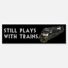 Still Plays With Trains Sticker (Bumper)
