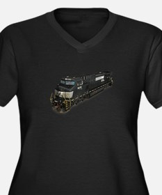 Still Plays With Trains Women's Plus Size V-Neck D