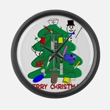 Nurse Christmas Large Wall Clock