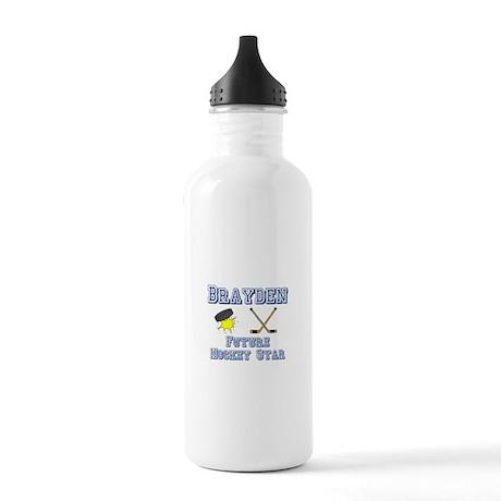 Brayden - Future Hockey Star Stainless Water Bottl