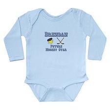 Brendan - Future Hockey Star Long Sleeve Infant Bo