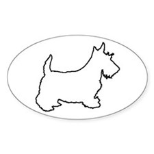 Scottish Terrier - Scottie Sticker-Oval