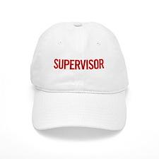 Supervisor (red) Baseball Cap