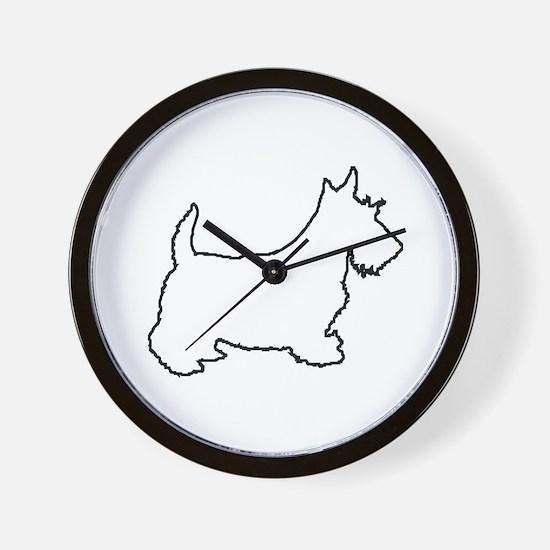 Scottish Terrier - Scottie Wall Clock