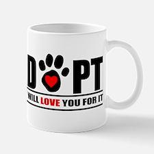 Adopt Paw Print Mug
