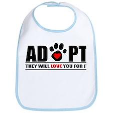 Adopt Paw Print Bib