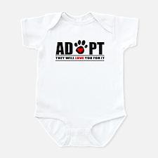 Adopt Paw Print Infant Bodysuit