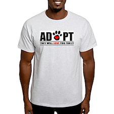 Adopt Paw Print T-Shirt