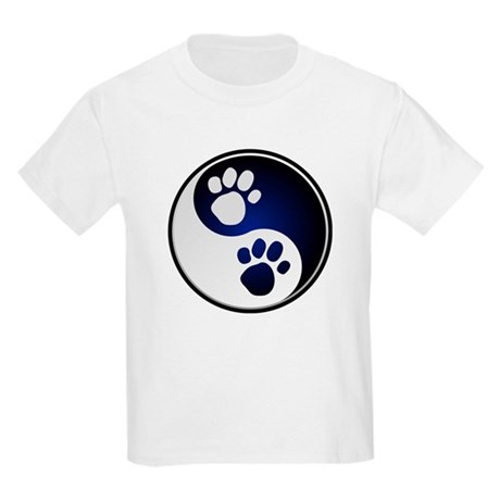 Paw Ying Yang Kids Light T-Shirt