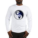 Yin yang cats Long Sleeve T-shirts