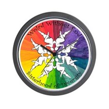 Diversity Rainbow Wall Clock
