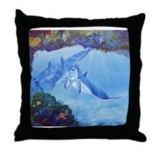 Dolphin Art Throw Pillow