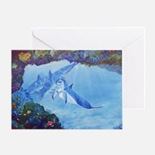 Dolphin Art Greeting Card