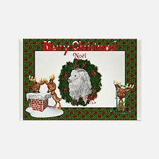 Angora Goat Noel Rectangle Magnet