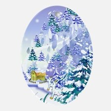 Goat Winter Noel Ornament (Oval)