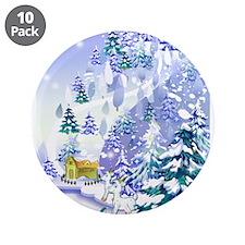 "Goat Winter Noel 3.5"" Button (10 pack)"