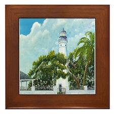 Key West Lighthouse Framed Tile
