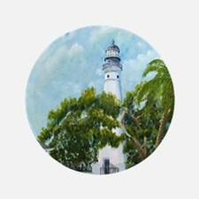 "Key West Lighthouse 3.5"" Button"