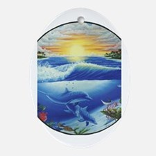 Dolphin Oval Ornament