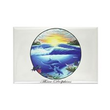 Dolphin Rectangle Magnet (10 pack)