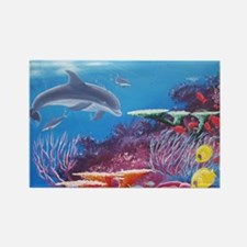 Cute Marine life Rectangle Magnet