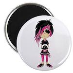 "Cute Emo Punk Girl 2.25"" Magnet (10 pack)"